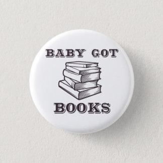 Chapa Redonda De 2,5 Cm El bebé consiguió los libros