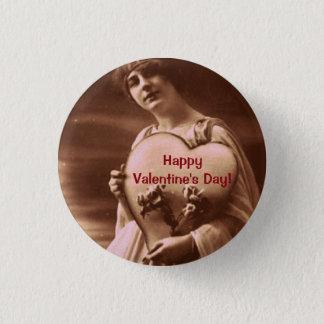Chapa Redonda De 2,5 Cm El día de San Valentín del estilo del vintage