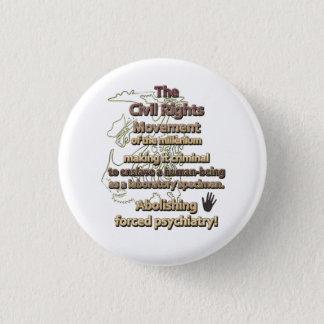 Chapa Redonda De 2,5 Cm El movimiento de las derechas civiles del milenio