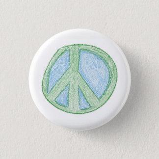 Chapa Redonda De 2,5 Cm El símbolo de paz cerca perfora
