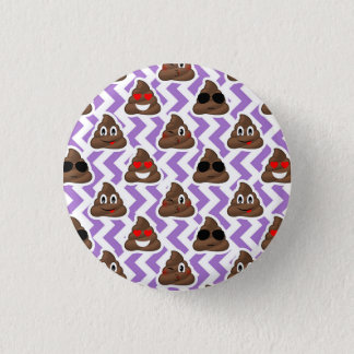 Chapa Redonda De 2,5 Cm El Zig púrpura Zagged modelo de Emoji del impulso