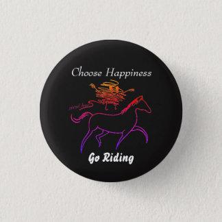 Chapa Redonda De 2,5 Cm Elija la felicidad - vaya a montar