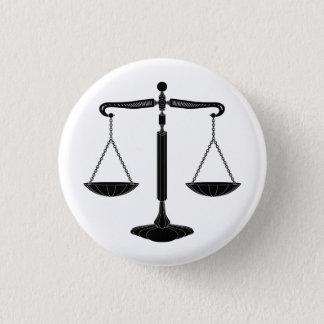 Chapa Redonda De 2,5 Cm Escalas de la justicia el | con clase