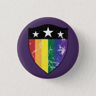Chapa Redonda De 2,5 Cm Escudo 01 (LGBTQIA) del defensor