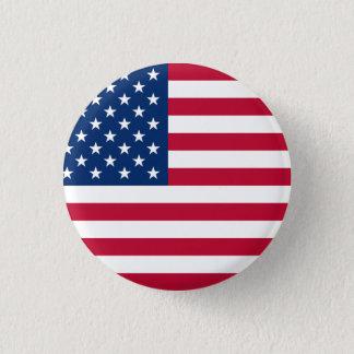 Chapa Redonda De 2,5 Cm Estados Unidos señalan por medio de una bandera