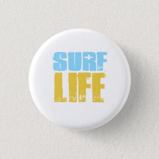 Chapa Redonda De 2,5 Cm Estilo de la persona que practica surf de la playa