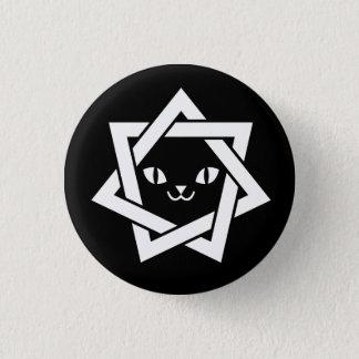 Chapa Redonda De 2,5 Cm Estrella gótica de la cara del gato de Kawaii