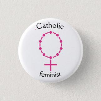 Chapa Redonda De 2,5 Cm Feminista católica