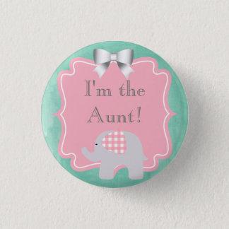 Chapa Redonda De 2,5 Cm Fiesta de bienvenida al bebé soy la tía, hermana,