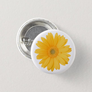Chapa Redonda De 2,5 Cm Flor amarilla brillante de la margarita del