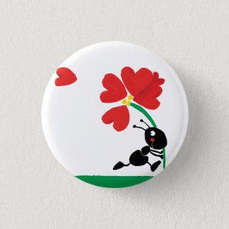 Chapa Redonda De 2,5 Cm flor del amor