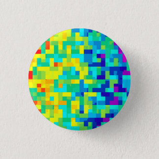 Chapa Redonda De 2,5 Cm Fondo inconsútil del modelo del pixel como