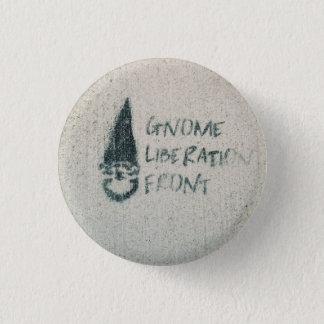Chapa Redonda De 2,5 Cm Frente de la liberación del gnomo