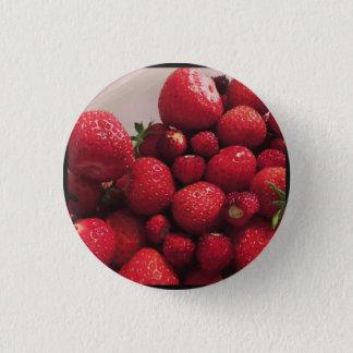 Chapa Redonda De 2,5 Cm Fresas 2 - Insignia