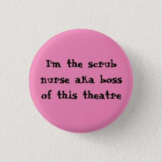 Chapa Redonda De 2,5 Cm Friegue la insignia de la enfermera