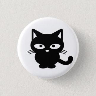 Chapa Redonda De 2,5 Cm Gatito amistoso del gato negro de Halloween de la