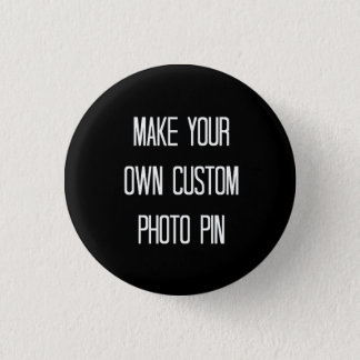 Chapa Redonda De 2,5 Cm Haga su propia fijar de encargo/botón de la foto