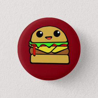 Chapa Redonda De 2,5 Cm Hamburguesa del queso de Kawaii