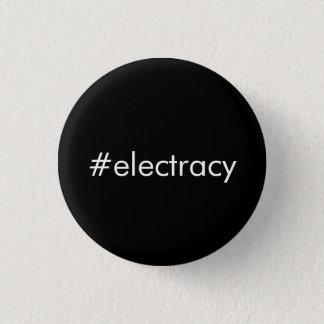 Chapa Redonda De 2,5 Cm Hashtag Electracy