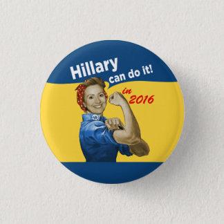 Chapa Redonda De 2,5 Cm Hillary puede hacerlo 2016