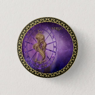 Chapa Redonda De 2,5 Cm horóscopo del diseño de la astrología del zodiaco