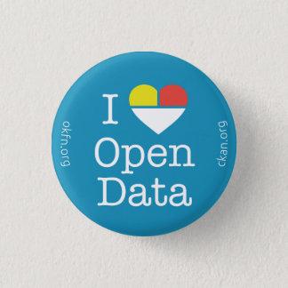 Chapa Redonda De 2,5 Cm I insignia abierta de los datos CKAN del corazón