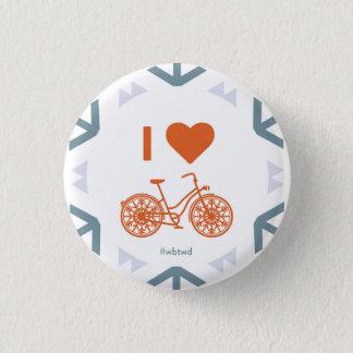 Chapa Redonda De 2,5 Cm I invierno del corazón Biking - pequeño Pin