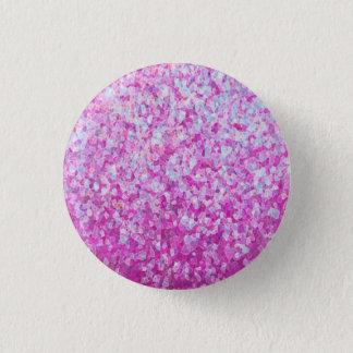 Chapa Redonda De 2,5 Cm Ilustraciones cristalinas del purpurina