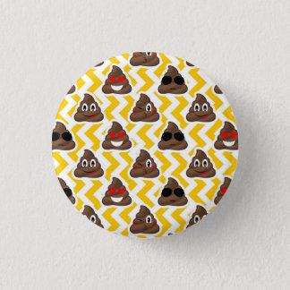 Chapa Redonda De 2,5 Cm Impulso amarillo Emojis del zigzag