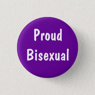 Chapa Redonda De 2,5 Cm Insignia bisexual orgullosa