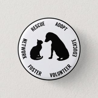 Chapa Redonda De 2,5 Cm Insignia del bienestar animal de los animales de