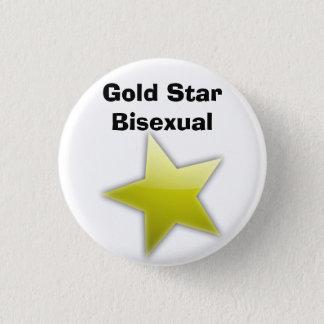 Chapa Redonda De 2,5 Cm Insignia del Bisexual de la estrella del oro