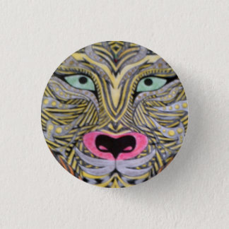 Chapa Redonda De 2,5 Cm Insignia del tigre