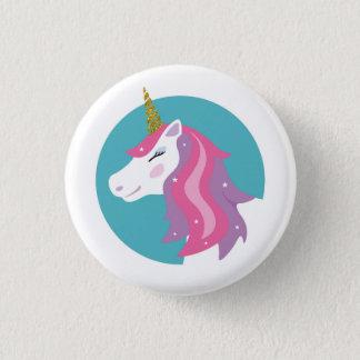 Chapa Redonda De 2,5 Cm Insignia mágica del Pin del unicornio