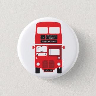 Chapa Redonda De 2,5 Cm Insignia roja del autobús de Londres