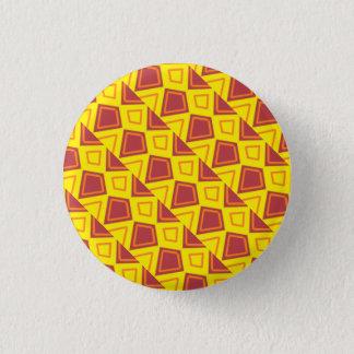 Chapa Redonda De 2,5 Cm Insignia roja y amarilla