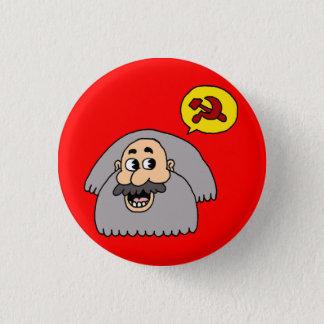 Chapa Redonda De 2,5 Cm Karl Marx