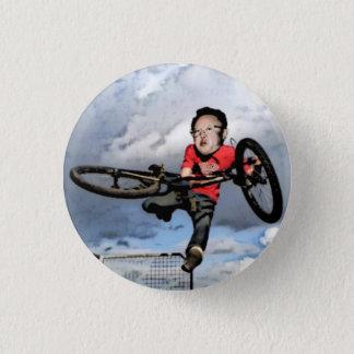 Chapa Redonda De 2,5 Cm Kim Jong-il BMX - Pin