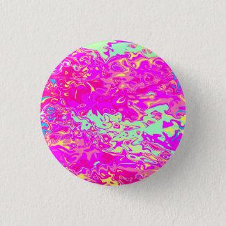 Chapa Redonda De 2,5 Cm La mirada Marbleized pica los verdes amarillo y