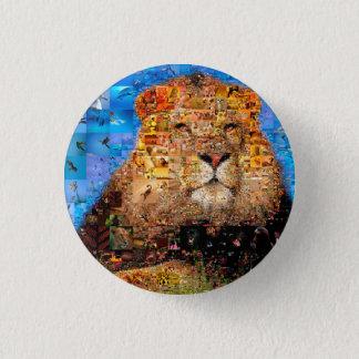 Chapa Redonda De 2,5 Cm león - collage del león - mosaico del león - león