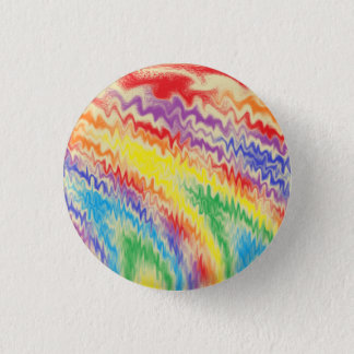 Chapa Redonda De 2,5 Cm Líneas de fuego del arco iris que rabian