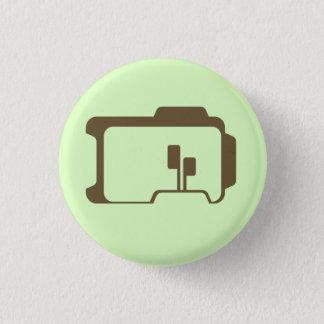Chapa Redonda De 2,5 Cm Logotipo (verde claro)