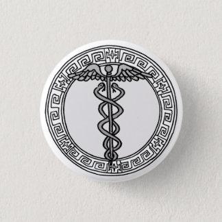 Chapa Redonda De 2,5 Cm ¡Los olímpicos! Insignia del símbolo de Hermes/de