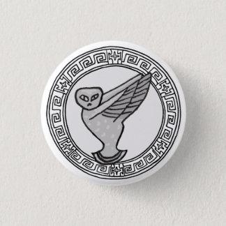 Chapa Redonda De 2,5 Cm ¡Los olímpicos! Insignia del símbolo del Athene/de