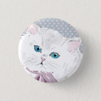 Chapa Redonda De 2,5 Cm lovely kitty