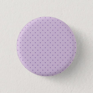 Chapa Redonda De 2,5 Cm Lunares púrpuras minúsculos en purpúreo claro