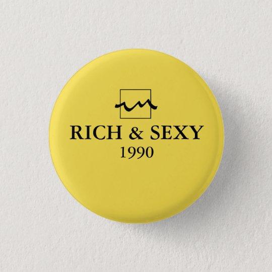 Chapa Redonda De 2,5 Cm Luxury Rich 1990