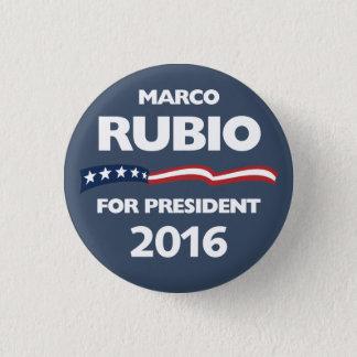 Chapa Redonda De 2,5 Cm Marco Rubio para el presidente 2016