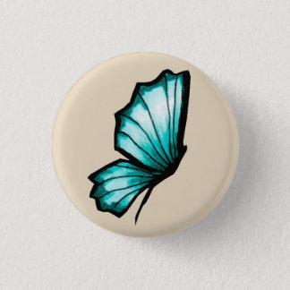 Chapa Redonda De 2,5 Cm Mariposa Turquesa