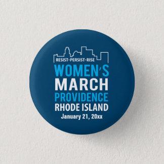 Chapa Redonda De 2,5 Cm Marzo Providence Rhode Island enero de las mujeres